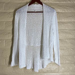 Eileen Fisher Loose Knit Open Front Cardigan PM